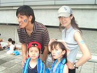 横浜FC×ジェフユナイテッド千葉「トーマスDAY」フェイスペインティングサービス