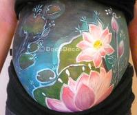 「ロータス」「曼荼羅」マタニティペイント:妊婦さんへボディペインティング!