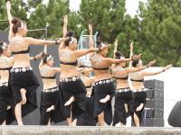 ジャパンフェイスペインティング&ボディアートショウ2009in八景島にて、フラダンスのステージ2