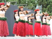 ジャパンフェイスペインティング&ボディアートショウ2009in八景島にて、フラダンスのステージ