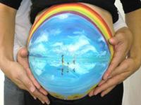 「天空の鏡」マタニティペイント