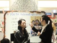 横浜ポルタ・ハロウィンパレード フェイスペインティング・ワークショップ01