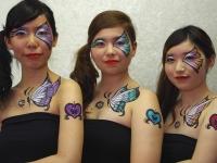 ボディペイント&ボディジュエリー「3girls and butterflies」