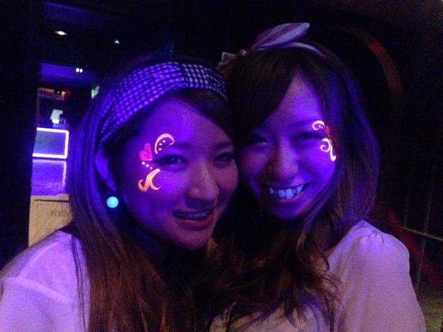 ジラフ大阪★NEON GLOW NIGHT・ボディペインティング