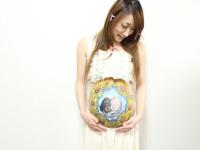 「向日葵と青空」マタニティペイントの画像