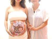 マタニティペイント「コスモス」の画像