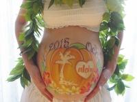 タグなしマタニティペイント「Hawaiian pumpkin(ハワイアン パンプキン)」