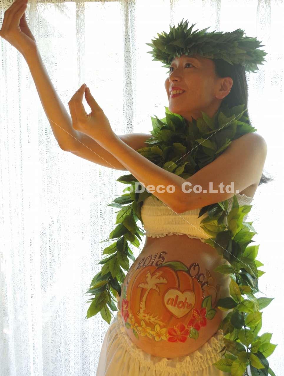マタニティペイント「Hawaiian pumpkin(ハワイアン パンプキン)」