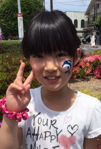 日田川開き観光祭/フェイスペインティングブース