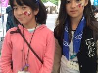 アースデイ東京2016フェイスペインティングの画像