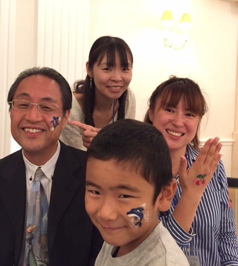 広島外語専門学校同窓大会2016/フェイス&ボディペインティング