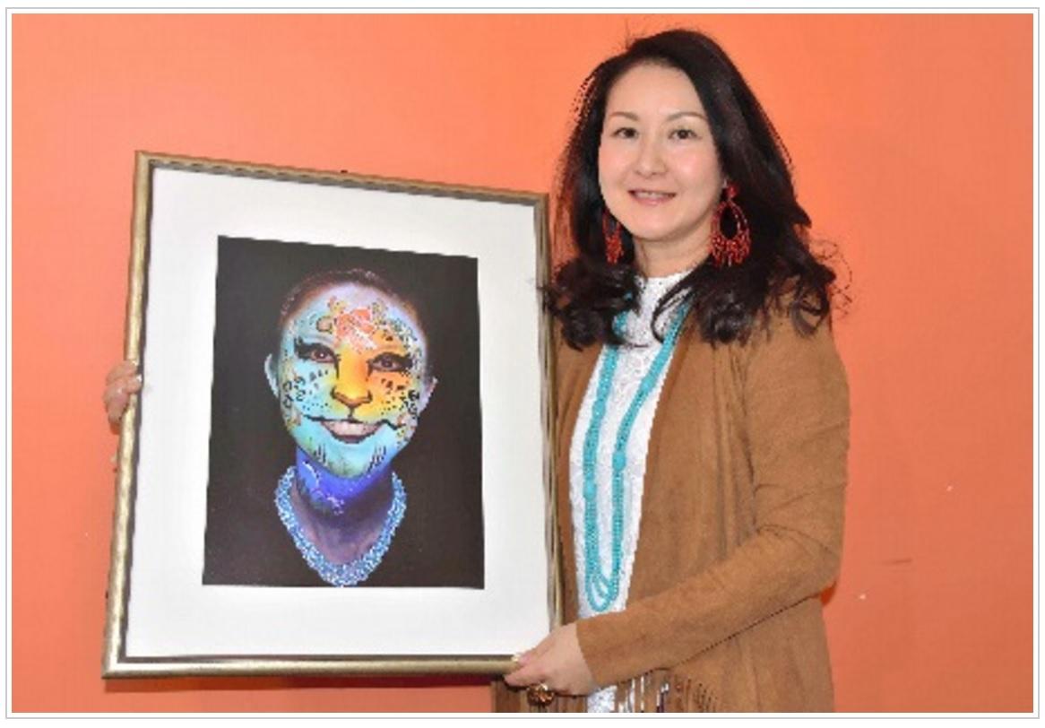 朝日新聞「顔に絵を描いて 広がる交流」フェース&ボディーペイントアーティスト 深井 仁美さん