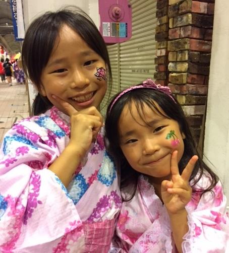 熊本地震復興祈願 八代くま川祭り/フェイス&ボディペインティングブース