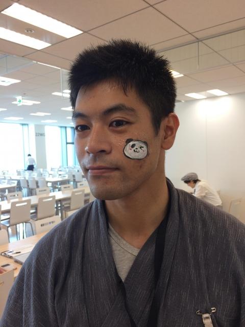 楽天「七夕イベント」フェイスペインティングの画像