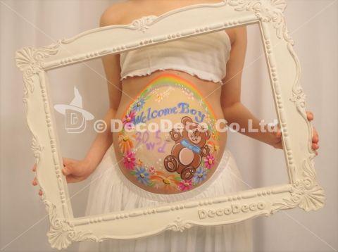 マタニティペイント「着ぐるみ赤ちゃん」